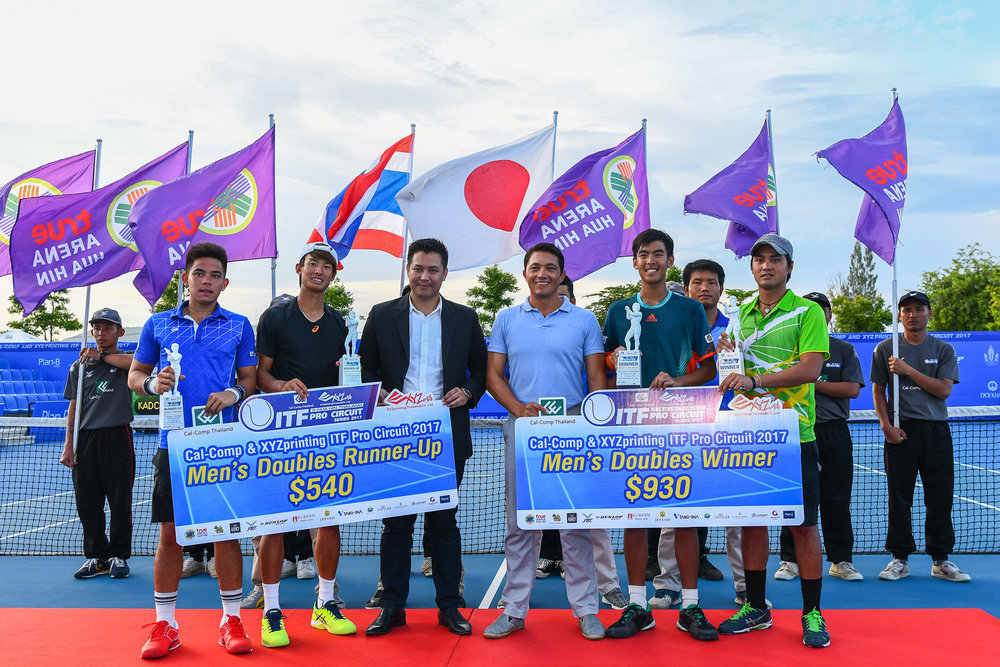 Friday 09 Jun - Kadchapanan, Nutthanon (THA) and Kovapitukted, Palaphoom (THA) Main Draw Double Finals on Centre Court. Score 7-5, 7-5 taking home the trophy at True Arena Hua Hin in Prachuap Kiri Khan, Thailand. (Credit Image: Thailand Photo SEALs Sports Photography) (Photographer: Naratip Golf Srisupab)