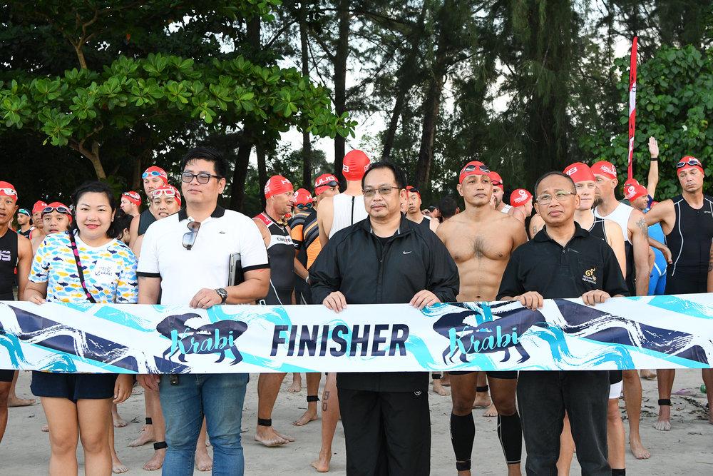 KRABI, THAILAND - JULY 23: Athletes and participants during Krabi International Triathlon on July 23, 2017 at Nopharat Thara Beach, Krabi, Thailand. (Photo by: Naratip Srisupab/Thailand Photo SEALs Sports Photography)