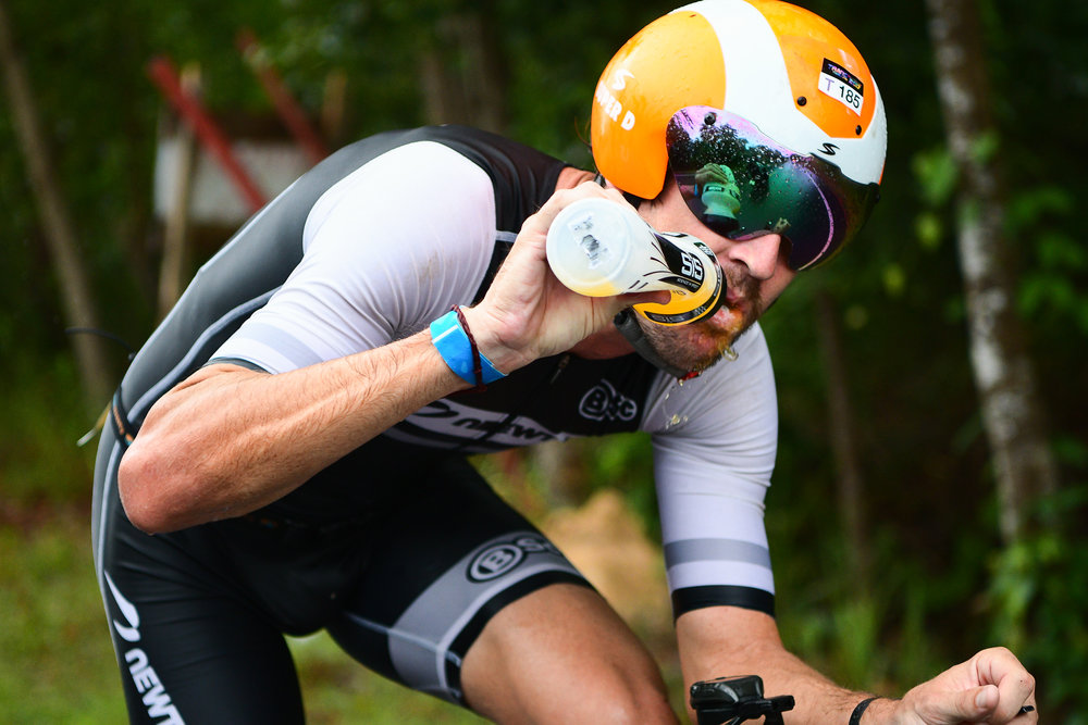 TRANG, THAILAND - AUGUST 27: Mitchell Robins of Australia on the cycling course in the TRANG THRILLING TRIATHLON 2017 on August 27, 2017 in Chao Mai National Park, Sikao, Trang, Thailand. (Photo by: Naratip Srisupab/Thailand Photo SEALs Sports Photography)
