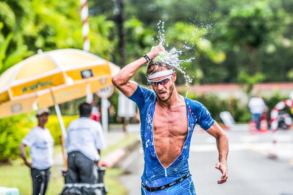 PHUKET, THAILAND - NOVEMBER 20: Michael Raelert of Germany on the 12k run during Laguna Phuket Triathlon 2016 on November 20, 2016 at Laguna Phuket, Phuket, Thailand. (Photo by: Naratip Srisupab/Thailand Photo SEALs Sports Photography)