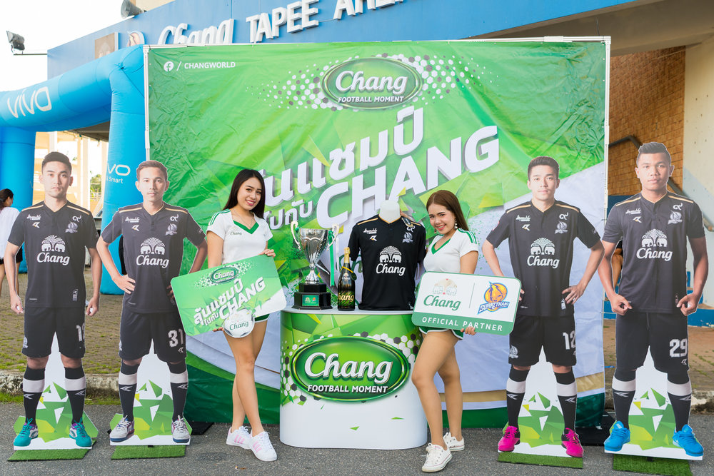 SURAT THANI, THAILAND - JUNE 11: Pre-Game tailgating sponsored by Chang Beer at the Surat Thani vs Samut Sakhon Futsal on June 11, 2017 at Surat Thani Sports Complex, Surat Thani, Thailand. (Photo by: Naratip Srisupab/Thailand Photo SEALs Sports Photography)