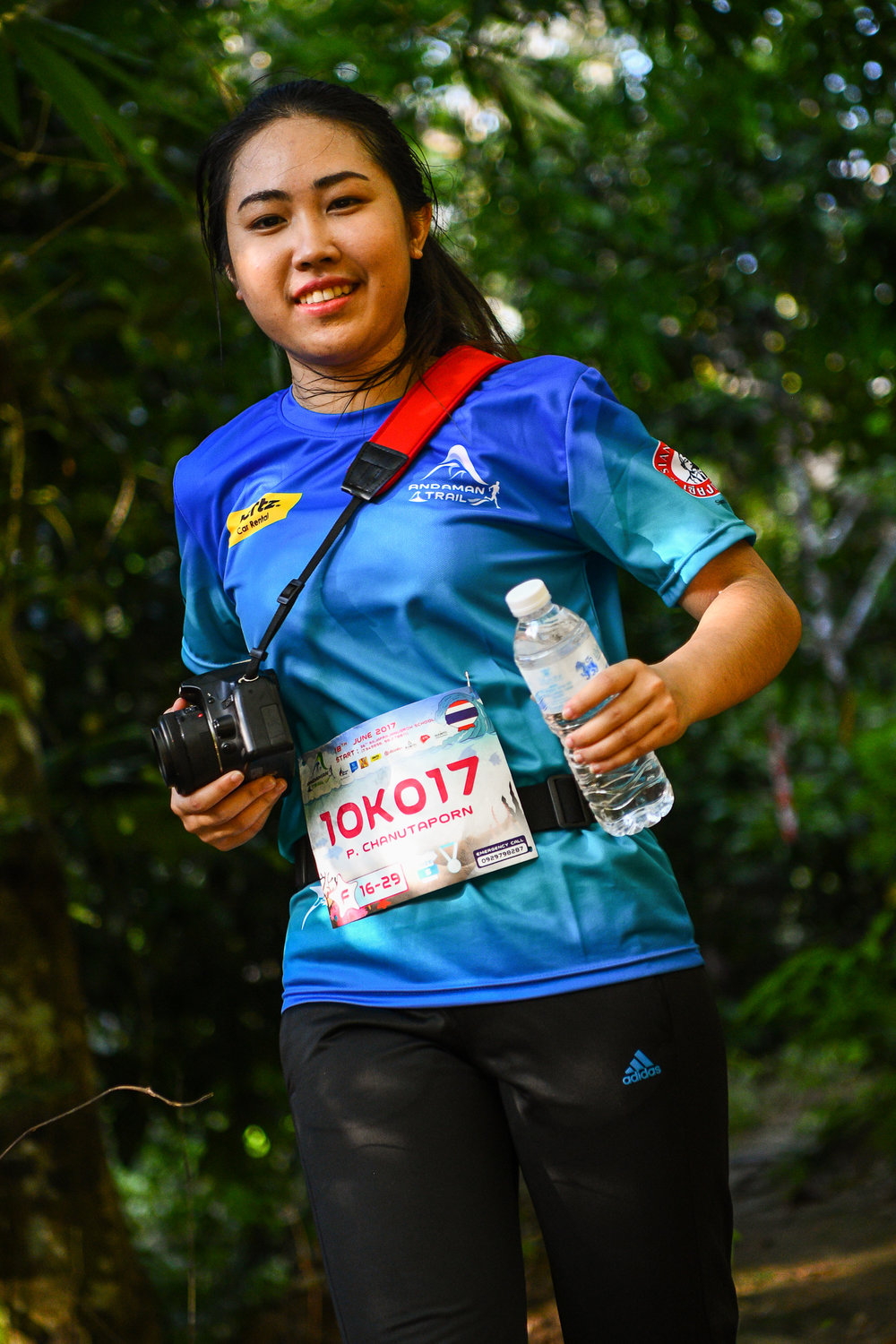 PHUKET, THAILAND - JUNE 18: Participants coming down the Andaman Trails 2017 on June 18, 2017 at Ban Bang Niew Dam Reservoir Project, Phuket, Thailand. (Photo by: Naratip Srisupab/Thailand Photo SEALs Sports Photography)