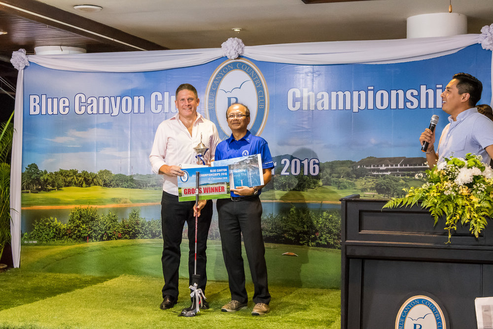 Congratulation to Alec Pettigrew on winning the Blue Canyon Club Championships 2016 presented by Deputy Managing Director of BCCC.