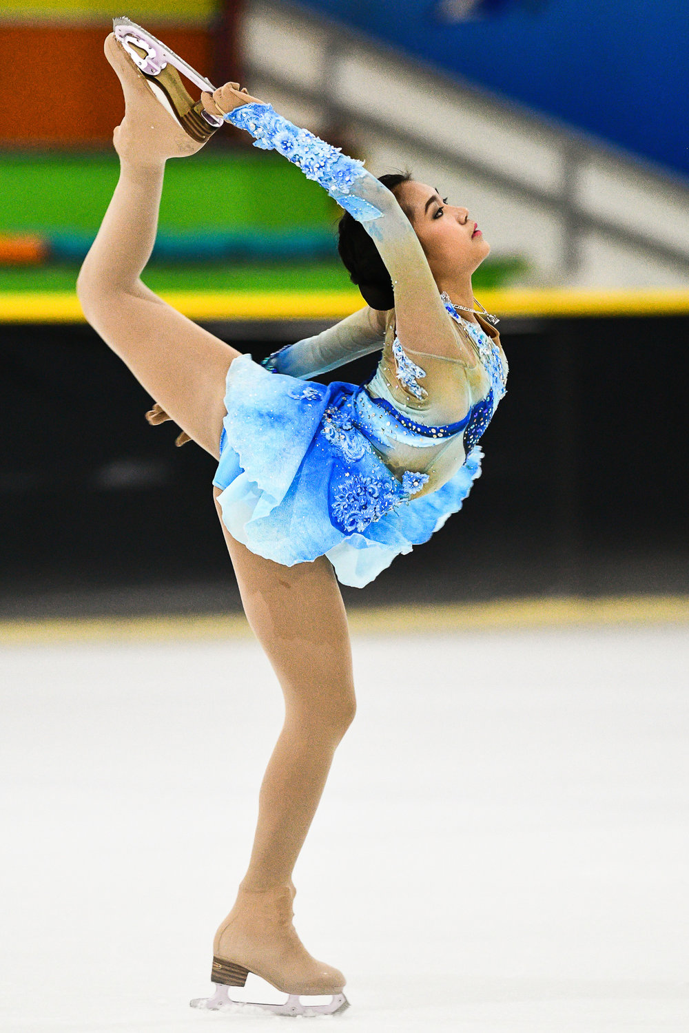 BANGKOK, THAILAND - MARCH 17: Promsan Rattanadilok Na Phuket of Thailand scored a 44.37 for her short program during the 33rd National Youth Games Figure Skating (Chumphon Ranong Games) on March 17, 2017 at Imperial World Samrong Ice Skating, Bangkok, Thailand. (Photo by: Naratip Srisupab/Thailand Photo SEALs Sports Photography)
