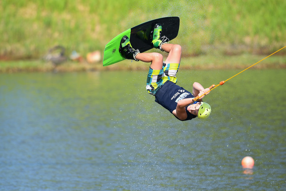 PHUKET, THAILAND - OCTOBER 01: Zakhar Komarov during the Open Men Wakeboard Finals at the The Gravity Wake Open 2017, Phuket Water Park, Phuket, Thailand on October 01, 2017. (Photo by: Naratip Srisupab/SEALs Sports Images)