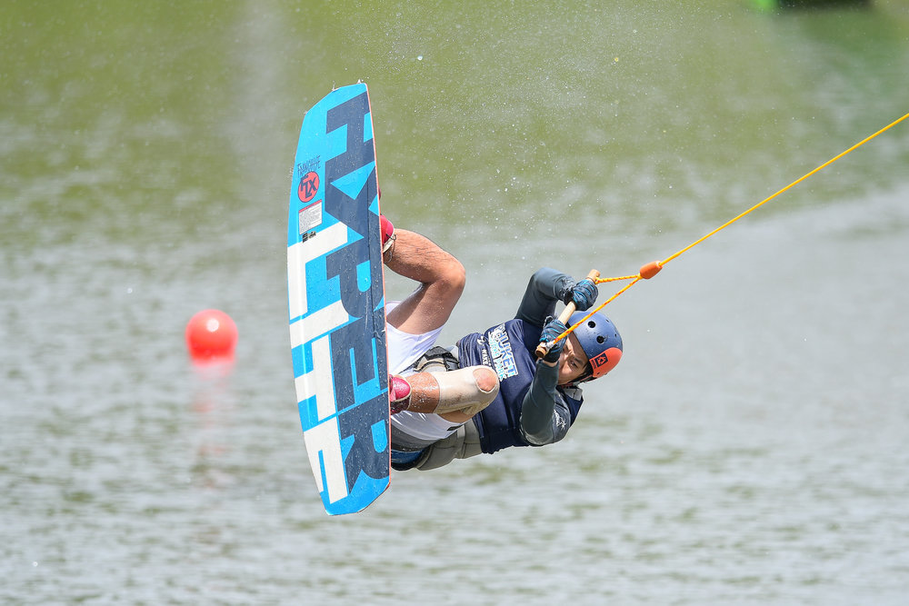 PHUKET, THAILAND - OCTOBER 01: Participant during the Master Wakeboard Finals at the The Gravity Wake Open 2017, Phuket Water Park, Phuket, Thailand on October 01, 2017. (Photo by: Naratip Srisupab/SEALs Sports Images)