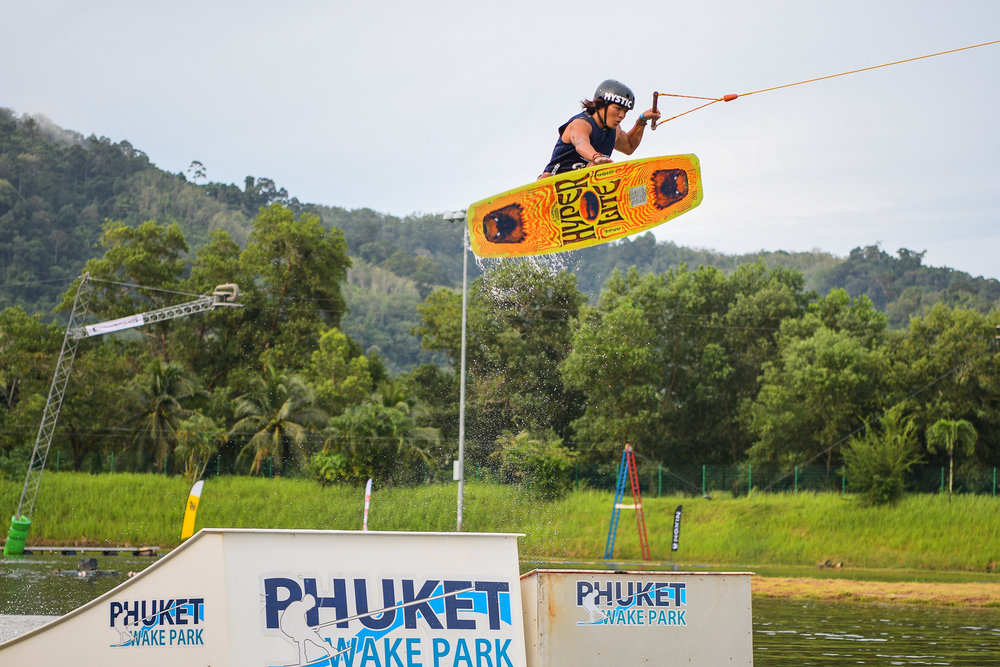 PHUKET, THAILAND - OCTOBER 30: Koaki Toyoshima during the Open Men Wakeboard Round 1 at the The Gravity Wake Open 2017, Phuket Water Park, Phuket, Thailand on September 30, 2017. (Photo by: Naratip Srisupab/SEALs Sports Images)