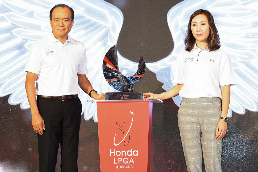 BANGKOK, THAILAND - FEBRUARY 01: Honda LPGA Thailand 2018 Press Conference at Intercontinental Hotel Bangkok, Bangkok, Thailand on February 01, 2018. (Photo by: Naratip Srisupab/SEALs Sports Images)
