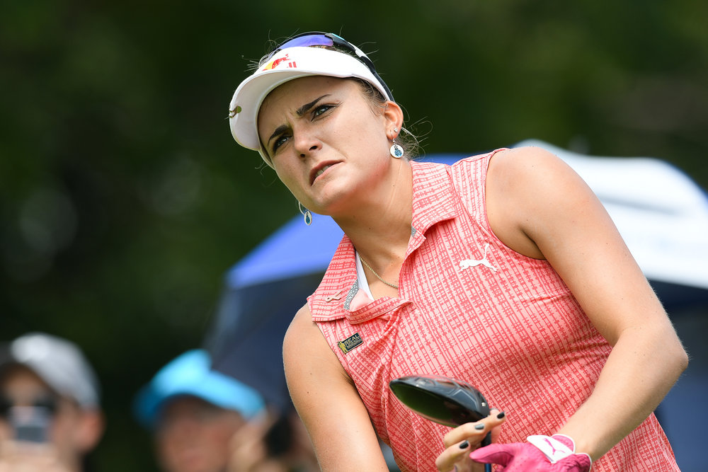 CHON BURI, THAILAND - FEBRUARY 24: Lexi Thompson of USA teeing off on Hole 6 during her third round at the Honda LPGA Thailand 2018 at Siam Country Club (Old Course), Chon Buri, Thailand on February 24, 2018. (Photo by: Naratip Srisupab/SEALs Sports Images)