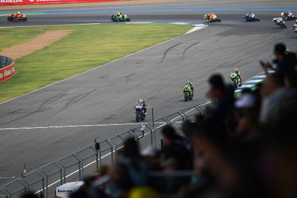 BURIRAM, THAILAND - MARCH 25: WHO on turn during Race 2 in the FIM Superbike World Championship 2018 during the 2018 Superbike Motul Thai Round at Chang International Circuit, Buriram, Thailand on March 25, 2018. (Photo by: Naratip Golf Srisupab/SEALs Sports Images)