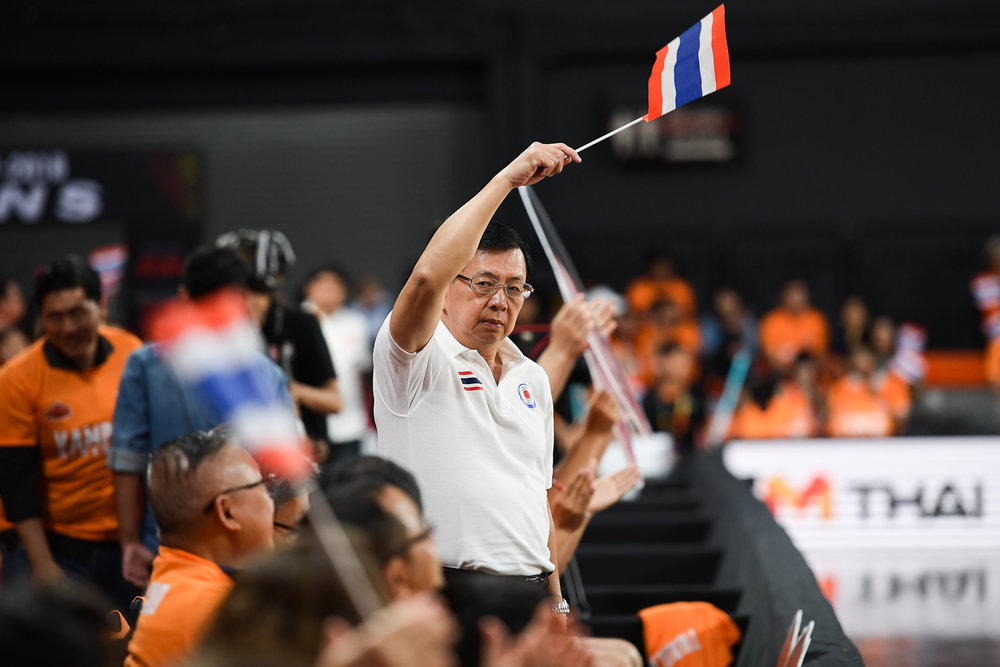 BANGKOK, THAILAND - APRIL 30: WHO during the Asean Basketball League 2017-2018, Mono Stadium 29, Bangkok, Thailand on April 30, 2018. (Photo by: Naratip Golf Srisupab/SEALs Sports Images)