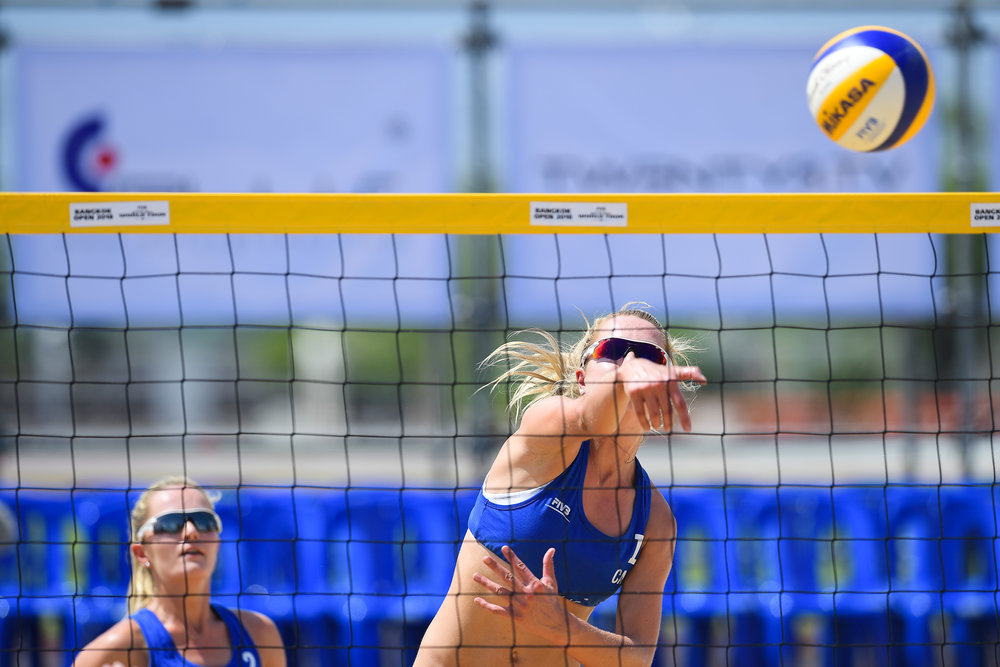 BANGKOK, THAILAND - MAY 12: WHO at the FIVB Beach Volleyball World Tour - Bangkok Open 2018, King Mongkut's Institute of Technology, Bangkok, Thailand on May 12, 2018. (Photo by: Naratip Golf Srisupab/SEALs Sports Images)