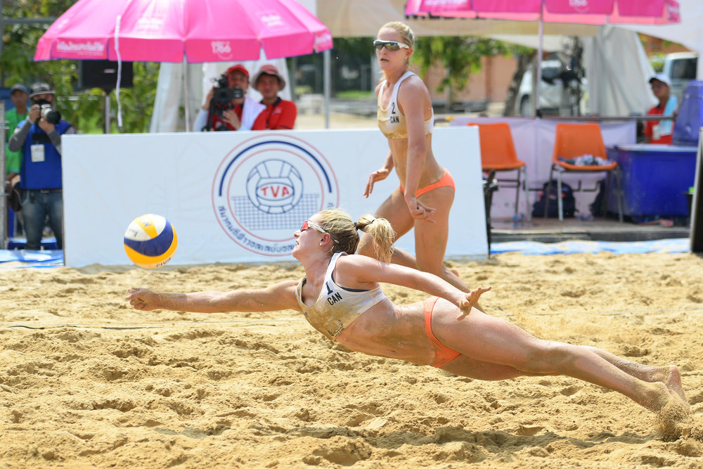 BANGKOK, THAILAND - MAY 13: WHO at the FIVB Beach Volleyball World Tour - Bangkok Open 2018, King Mongkut's Institute of Technology, Bangkok, Thailand on May 13, 2018. (Photo by: Naratip Golf Srisupab/SEALs Sports Images)