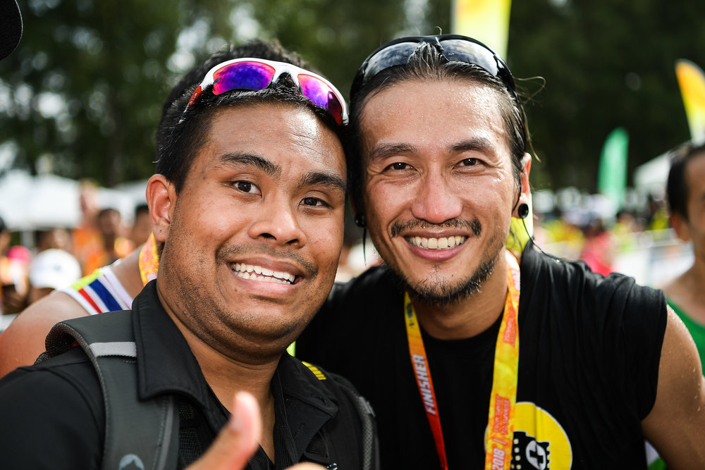 "PHUKET, THAILAND - JUNE 10: Artiwara Kongmalai ""Thoon Bodyslam"" at the 13th Laguna Phuket Marathon 2018, Phuket, Thailand on June 10, 2018. 