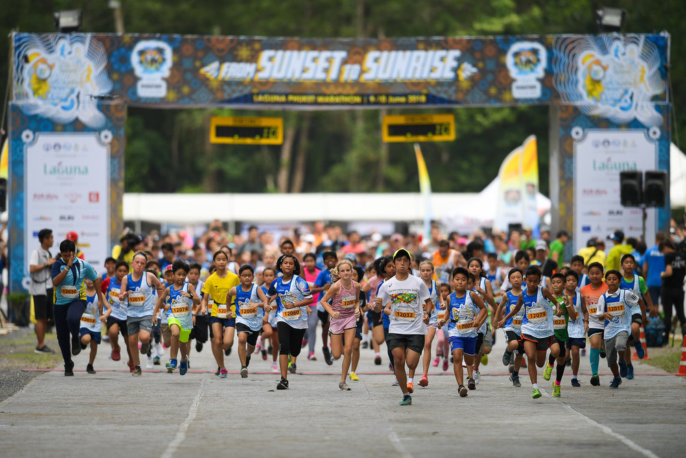 PHUKET, THAILAND - MONTH 09: WHO during the Laguna Phuket Marathon 2018, Phuket, Thailand on June 09, 2018. 