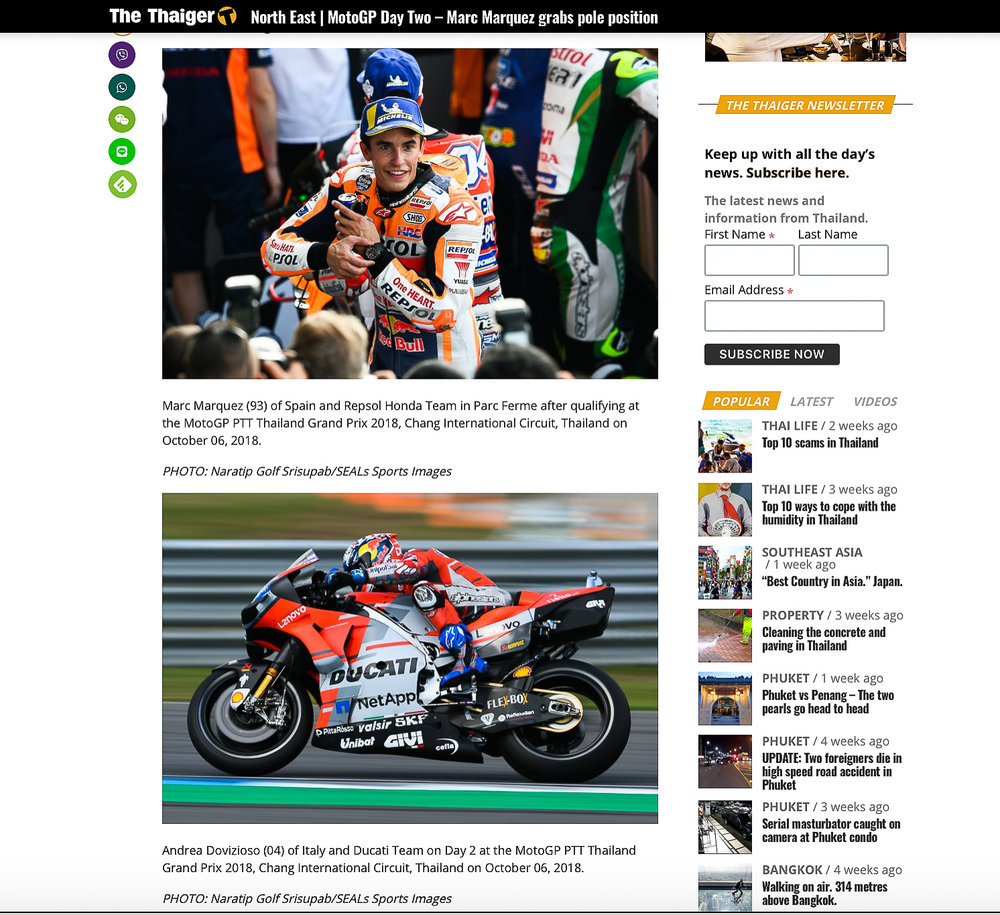 https://thethaiger.com/news/north-east/motogp-day-two-marc-marquez-grabs-pole-position