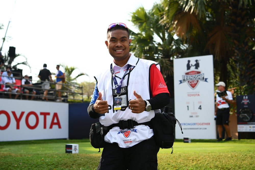 CHON BURI, THAILAND - DECEMBER 23: WHO teeing-off the 1st on Day 3 singles match against WHO at the Amata Friendship Cup 2018, Amata Spring Country Club, Chon Buri, Thailand on December 23, 2018. ...(Photo by: Naratip Golf Srisupab/SEALs Sports Images).Any image use must include a mandatory credit line adjacent to the content which should read: Naratip Golf Srisupab/SEALs Sports Images
