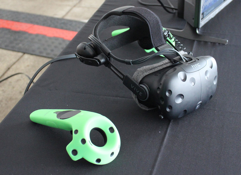 Virtual reality gear from Area 10 Labs during the Discovery Square Community Celebration.