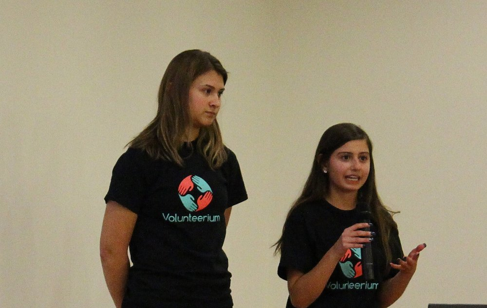 Byron High School students and entrepreneurs Maddie Harris and Maia Jorgensen.