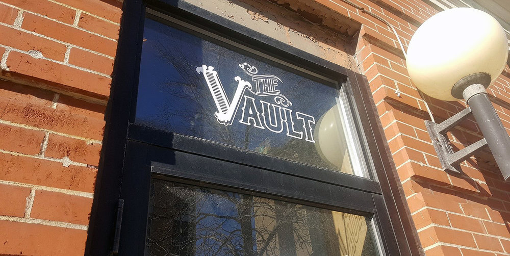 The Vault coworking space in Rochester. The Vault is located above Grand Rounds Brew Pub.