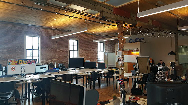 Rochester's newest coworking space, Collider, located in the Conley-Maass-Downs building.