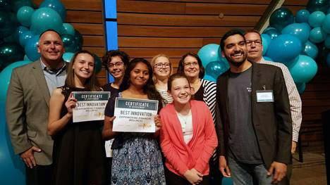 Photo courtesy of Technovation[MN]. B.A.S.I.C. B.A.L.S.A students and professional mentors.