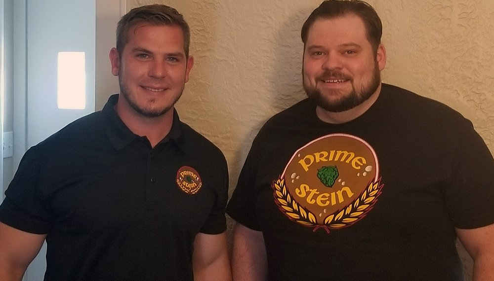 From left to right: Brian Miller and Steve Patterson of Prime Stein Brewery. Photo courtesy of Prime Stein Brewery.