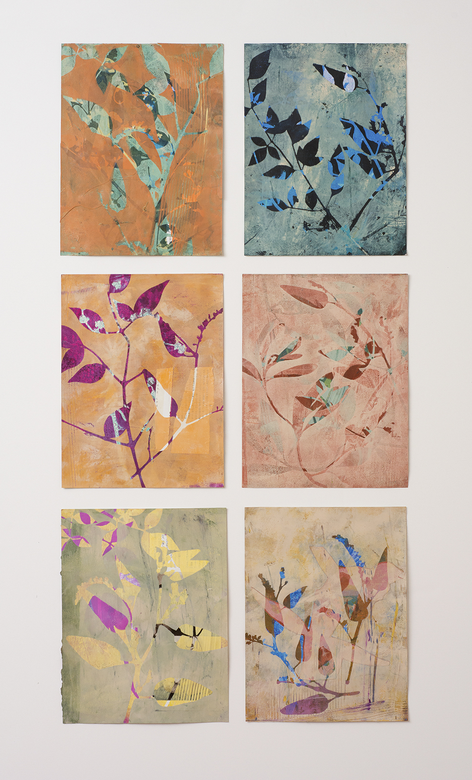 "Folia, 19″ x 38,"" Monoprint collage"