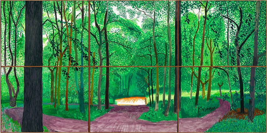 """WOLDGATE WOODS, 26, 27 & 30 JULY 2006"" ©2006, David Hockney"