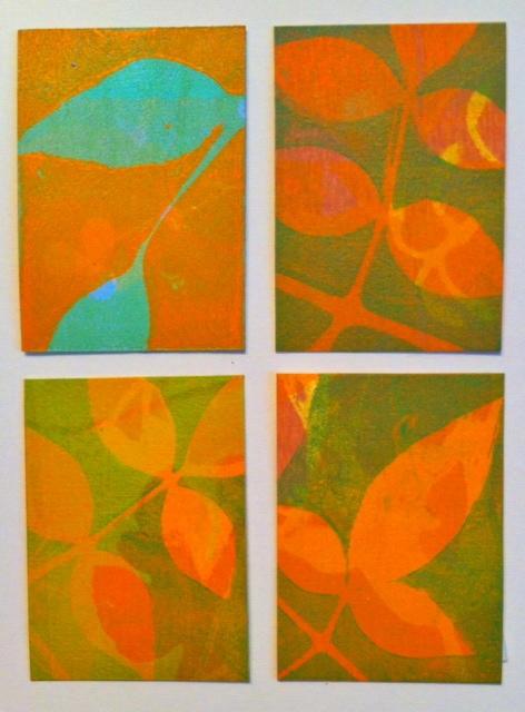 "Pruning 2, ©2014, 5.5"" x 7.5,"" Monoprint"