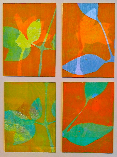 "Pruning, ˙2014, 5.5"" x 7.5,"" Monoprint"