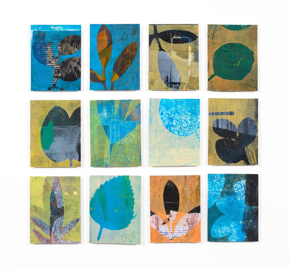 "Walk to the Sea, 17"" x 17.5,"" Monoprint collage"