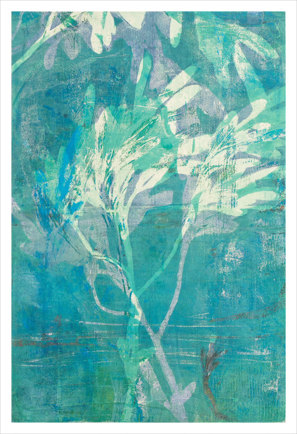"Kelp Winds, 13"" x 19,"" Monoprint"