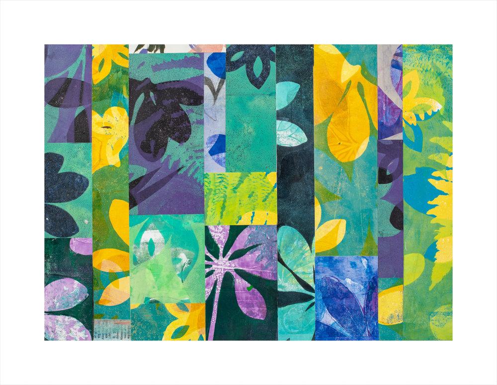 """Fern Gulley, 20"""" x 16,"""" Monoprint collage"""
