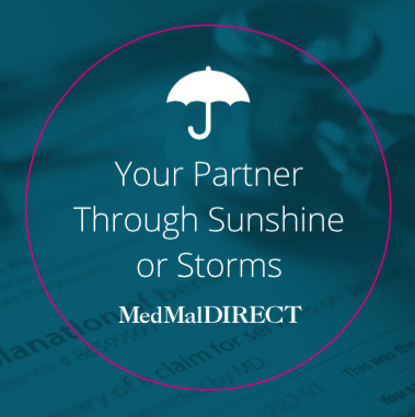 """ROLE: COPYWRITER and CONCEPT STRATEGY    PROJECT COPY:  """"An Umbrella of Coverage.""""   Direct mail is only effective if the client opens the package. This project needed a few clever headlines and a lot of stickers.   CLIENT:  MED MAL DIRECT     AGENCY: WINGARD CREATIVE"""