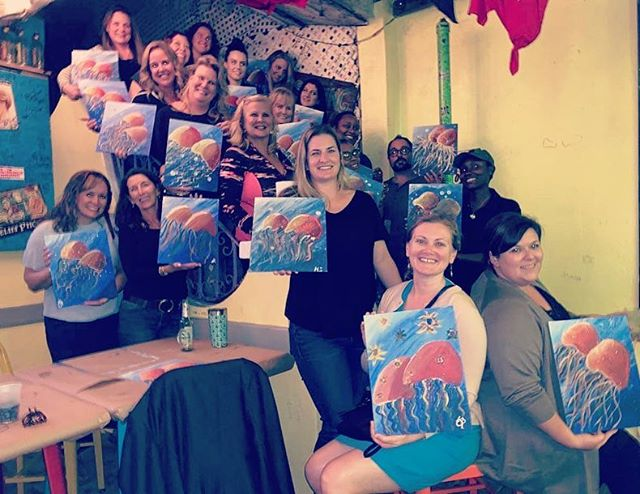Another great cocktails and canvases event! Everyone has added a great piece to to their collection! Thank you to all who came and to Jen for being super awesome artist/teacher! 👩‍🎨👩‍🎨