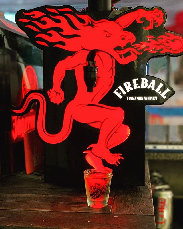 Today only - if you purchase The Bearded Clam shot glass you will receive a free Fireball shot! #fireballfriday