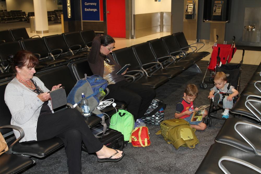 8 hour wait at Sydney Airport.