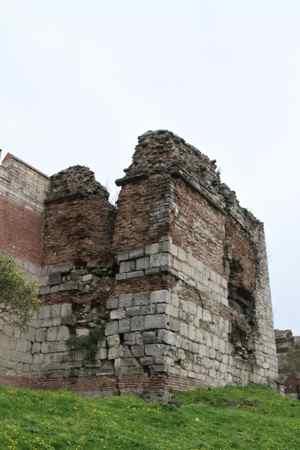 Crumbling tower.