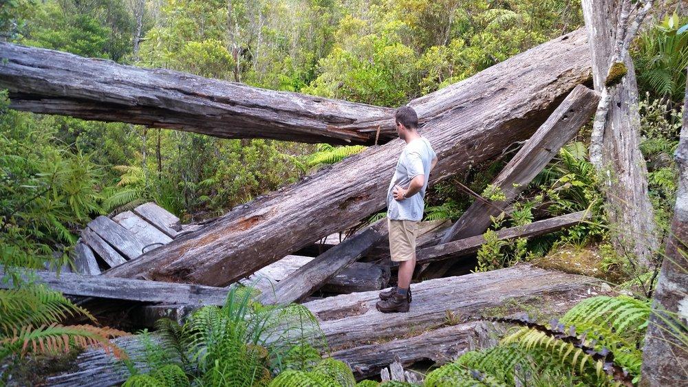 Exploring old dam