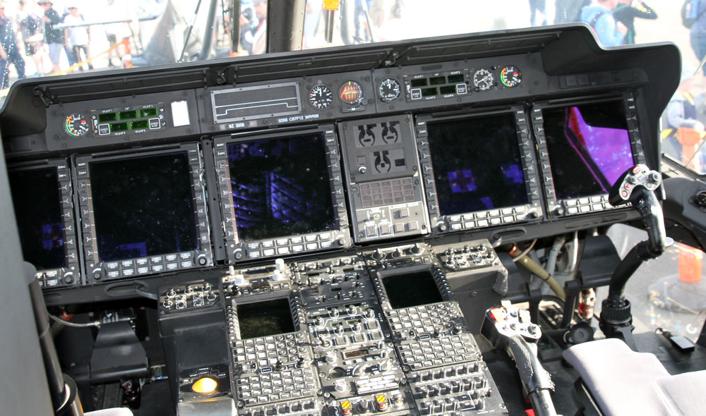Cockpit of a NH90