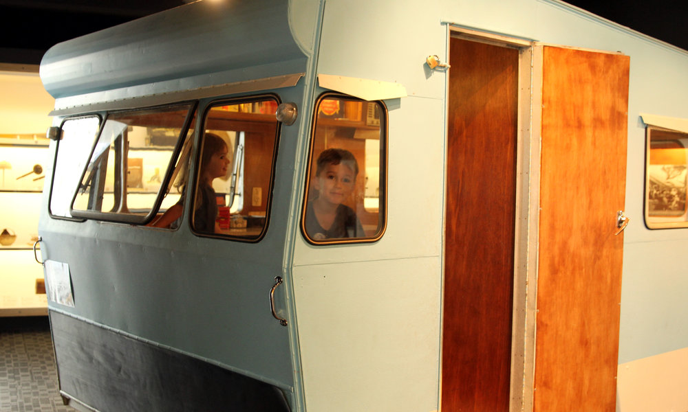 1960's caraven in the Palmerston North Museum.