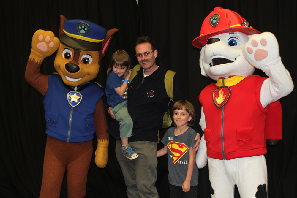 With Chase & Marshall from Paw Patrol