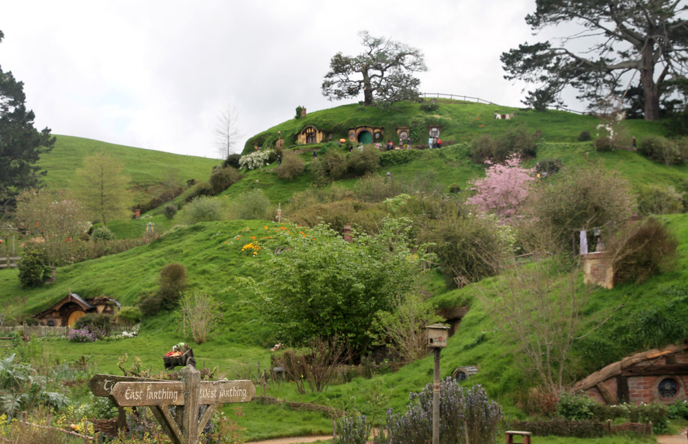 First view of Hobbiton - looks amazing!
