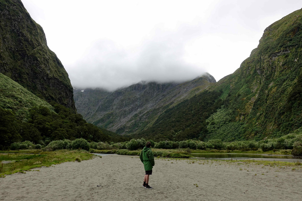 The source of the Clinton River, which I have been walking beside over the last couple of days from Lake Te Anau.