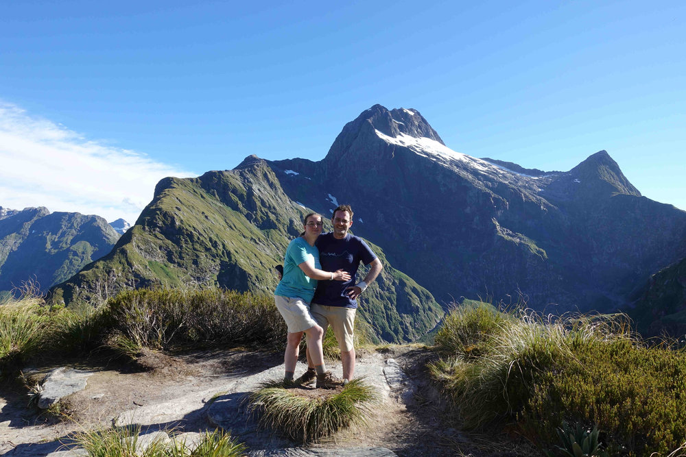 Top of the Milford Track - Mackinnon Pass and look at that glorious weather!