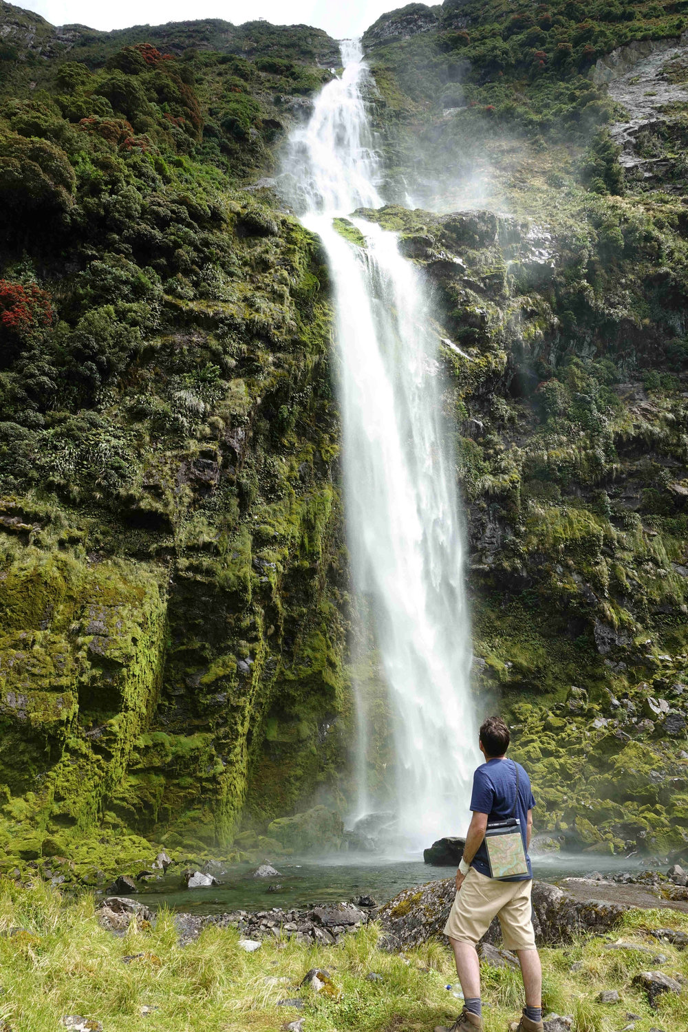 The tallest waterfall in New Zealand
