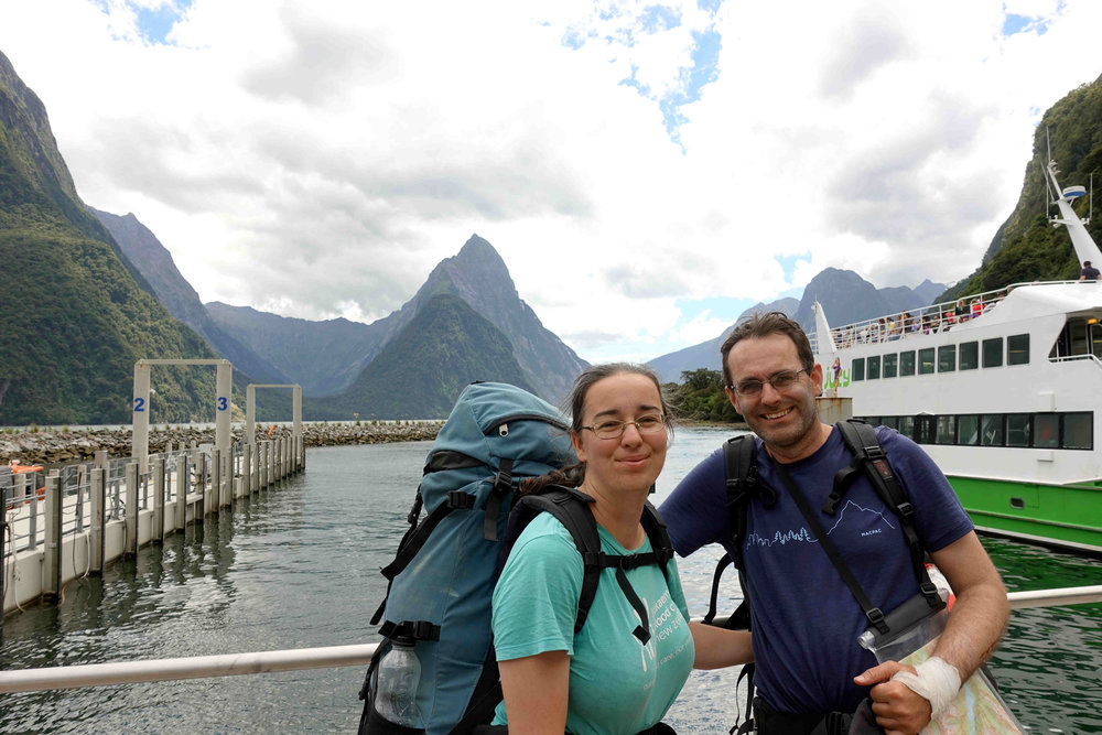 Finally- Milford Sound after 4 days of walking!