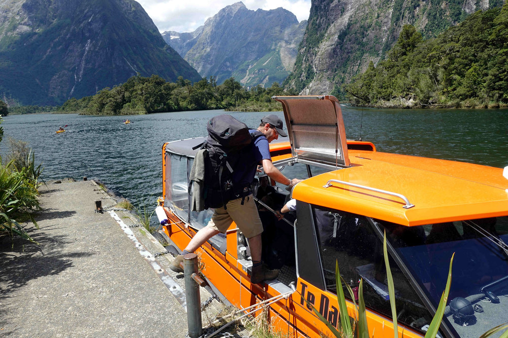 Leaving Sandfly Point - the end of the Milford Track and heading into Milford Sound.