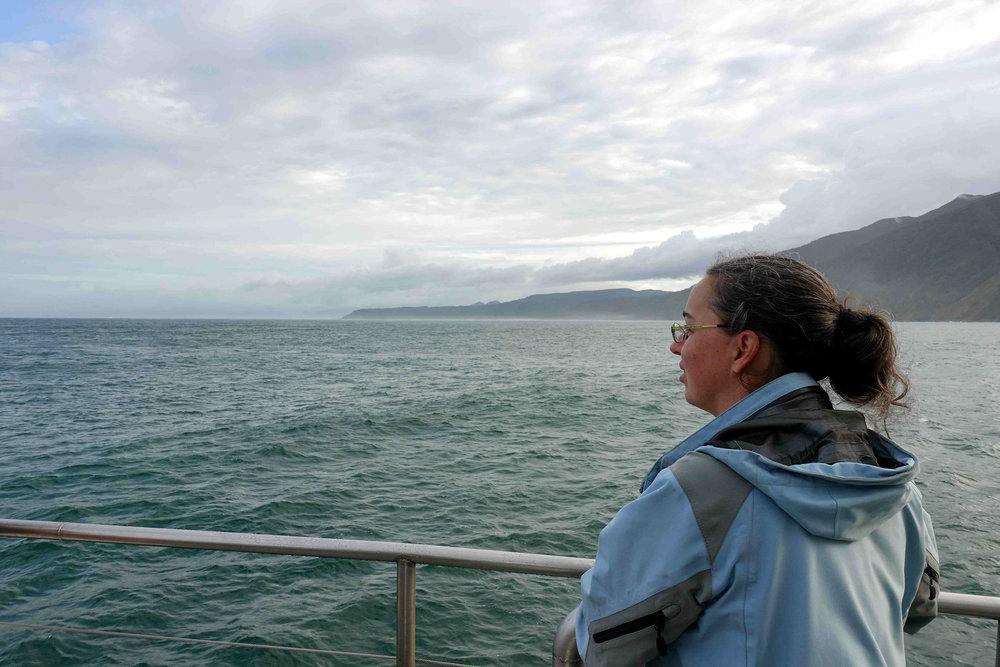 Julianne looking into the open sea